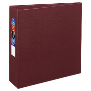 "Avery Heavy-Duty Vinyl EZD Ring Reference Binder, 3"" Capacity, Maroon (AVE79363)"