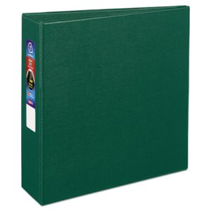"Avery Heavy-Duty Vinyl EZD Ring Reference Binder, 3"" Capacity, Green (AVE79783)"