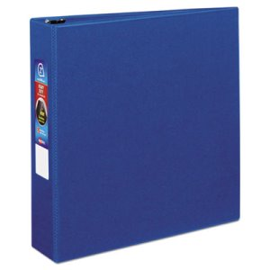 "Avery Heavy-Duty Vinyl EZD Ring Reference Binder, 2"" Capacity, Blue (AVE79882)"