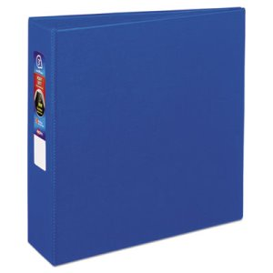 "Avery Heavy-Duty Vinyl EZD Ring Reference Binder, 3"" Capacity, Blue (AVE79883)"
