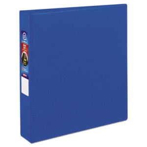 "Avery Heavy-Duty Vinyl Ring Reference Binder, 1-1/2"" Capacity, Blue (AVE79885)"