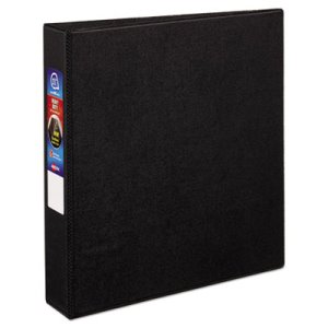 "Avery Heavy-Duty Vinyl Ring Reference Binder, 1-1/2"" Capacity, Black (AVE79985)"