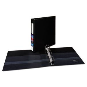 "Avery Heavy-Duty Vinyl EZD Ring Binder, 1-1/2"" Cap, Black (AVE79991)"