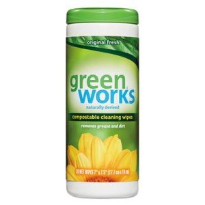 Green Works Compostable Cleaning Wipes, 12 Canisters (CLO30311)