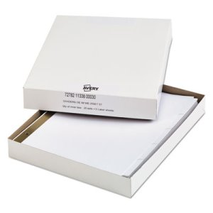 Avery Office Essentials 5-Tab Label Dividers, 11 x 8-1/2, 25 Sets (AVE11338)