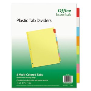 Avery Insertable 8-Tab Index Dividers, Letter, Assorted, 8 Dividers (AVE11467)