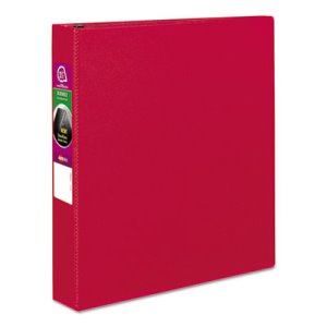 "Avery Durable EZ-Turn Ring Reference 1 1/2"" Binder, 11 x 8-1/2, Red (AVE27202)"