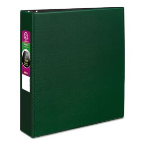 "Avery Durable EZ-Turn 2"" Ring Reference Binder, 11 x 8-1/2, Green (AVE27553)"