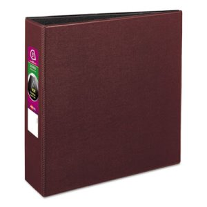 "Avery Durable EZ-Turn Reference Binder, 11 x 8-1/2, 3"" Cap, Burgundy (AVE27652)"