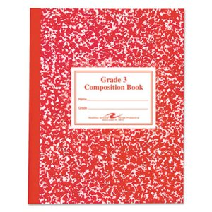 Roaring Grade School Ruled Composition Book,  Red Cover, 50 Pages (ROA77922)