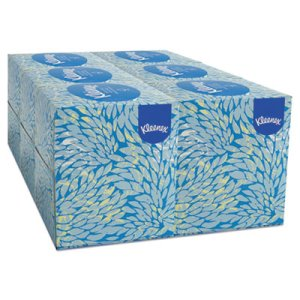 Kleenex White 2-Ply Facial Tissues, 6 Upright Boxes (KCC21271)