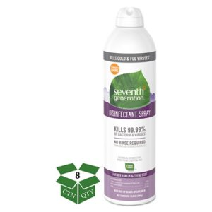 Seventh Generation Disinfectant Spray, Lavender Vanilla, 8 Cans (SEV22979)