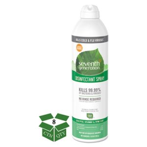 Seventh Generation Disinfectant Spray, Eucalyptus/Mint, 8 Cans (SEV22981)