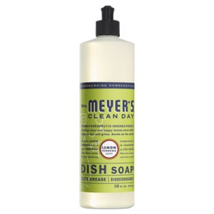 Mrs. Meyer's Dish Soap, Lemon Scent, 6 Squeeze Bottles (SJN650393)