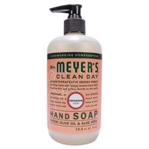Mrs. Meyer's Clean Day Hand Soap, Geranium, 12.5-oz, 6 Bottles (SJN651332)