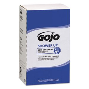 Gojo Shower Up Soap & Shampoo, Pleasant Scent, 2000ml, 4 Refills (GOJ7230)
