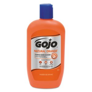 Gojo Natural Orange Pumice Hand Cleaner, 14 oz Bottle (GOJ095712EA)