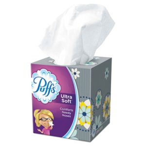 "Puffs 2-Ply Facial Tissue, White, 8.4"" x  8 1/4"", 56 Sheets (PGC35038BX)"