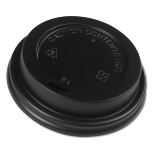 Boardwalk Hot Cup Dome Lids, Fits 8 oz Hot Cups, Black, 1000/Carton (BWKHOTBL8)