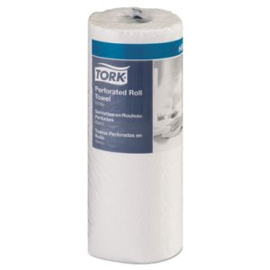 Tork Perforated Towel Roll, 2-Ply, White, 30 Rolls (TRK421970)