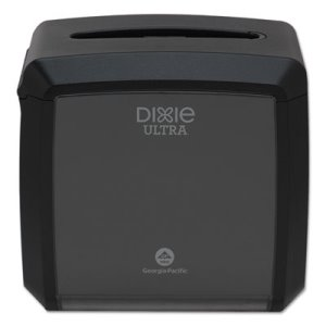 "Dixie Ultra Tabletop Napkin Dispenser, 7.6"" x 6.1"" x 7.2"", Black (GPC54527A)"