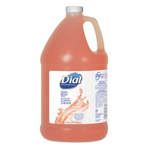 Dial Hair and Body Wash, Peach, 1 Gallon, 4 Bottles (DIA 03986)