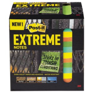 Post-It Extreme Water-Resistant Notes, Assorted Color, 12 Pads (MMMXTRM3312TRYX)