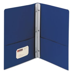 "Smead Two-Pocket Portfolio, Letter, 1/2"" Capacity, Blue, 25 per Box (SMD88054)"