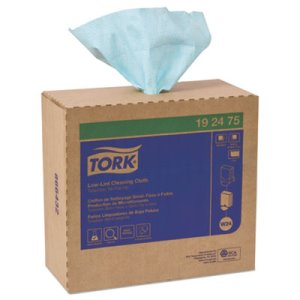 Tork Low-Lint Cleaning Cloth Pop-Up Box, 1-ply, 8 Boxes, 800 Cloths (TRK192475)