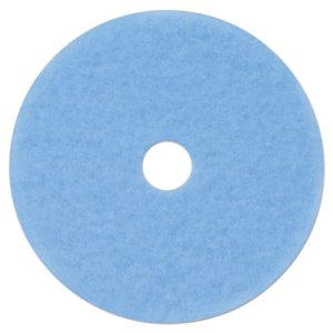 "3m Sky Blue Hi-Performance 21"" Burnish Pad 3050, 5 Pads (MMM59829)"