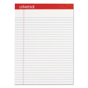 Universal Perforated Legal Writing Pads, White, Dozen (UNV20630)