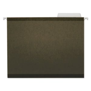 Universal Reinforced Recycled Hanging Folder, Ltr, Green, 25 Folders (UNV24113)