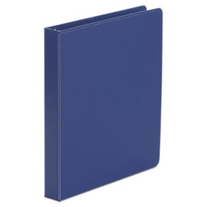 "Universal Suede Finish Vinyl Ring Binder, 1"" Capacity, Royal Blue (UNV31402)"