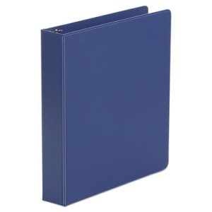 "Universal Suede Finish 1 1/2"" Vinyl Round Ring Binder, Royal Blue (UNV33402)"