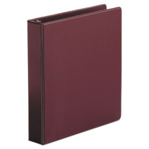 "Universal Suede Finish Vinyl Ring Binder, 1-1/2"" Capacity, Maroon (UNV33406)"
