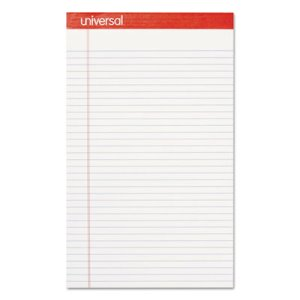 Universal Perforated Edge Writing Pad, Legal, White, 12 Pads (UNV45000)