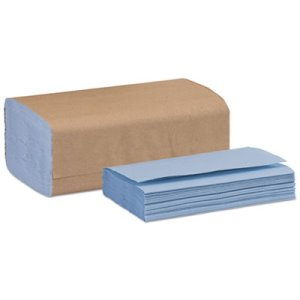 Tork Windshield Single-fold Towel, Blue, 140/Pack, 16 Packs (TRK192122)