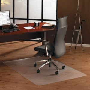 Floortex Cleartex Ultimat Polycarbonate Chair Mat for Hard Floors, 48 x 60, Clear (FLRER1215219ER)