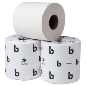 "Boardwalk Green Bathroom Tissue, 2-Ply, 3.75"" x 4"", White, 80 Rolls (BWK55GREEN)"