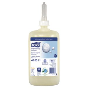 Tork Premium Extra Mild Liquid Soap, Unscented, 1 L, 6 Bottles (TRK400011)