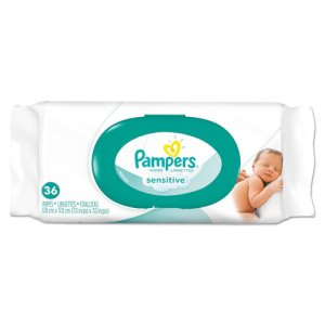 Pampers Sensitive Baby Wipes, Softgrip Texture, Unscented, 36 Wipes (PGC17116)