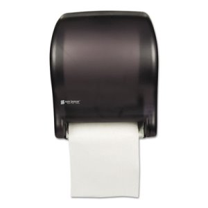 San Jamar Tear-N-Dry Essence Automatic Towel Dispenser, Black (SJMT8000TBK)