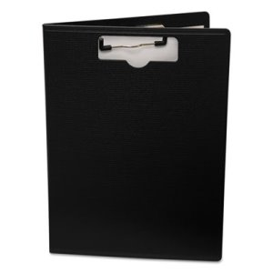 Portfolio Clipboard With Low-Profile Clip, 8 1/2 x 11, Black (BAU61634)