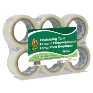 Duck Commercial Grade Packaging Tape, 110 yds, Clear, 6/Pack (DUC240054)