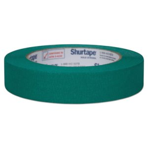 "Duck General Purpose Color Masking Tape, .94"" x 60 yds, Green (DUC240572)"