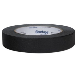"Duck General Purpose Color Masking Tape, .94"" x 60 yds, Black (DUC240574)"