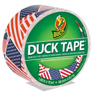 "Duck Colored Duct Tape, 1.88"" x 10 yds, 3"" Core, US Flag (DUC283046)"