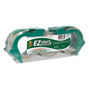 Duck EZ Start Packaging Tape, 2 60-yard Rolls, Bonus 30-Yard Roll (DUC1079097)
