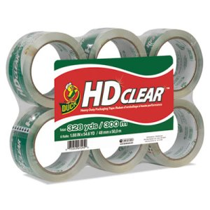 "Duck Heavy-Duty CT Packaging Tape, 1.88"" x 55 yds, 6 Rolls (DUCCS556PK)"