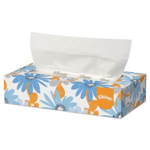 Kleenex White 2-Ply Facial Tissues, 125/Box, 12/Carton (KCC03076)